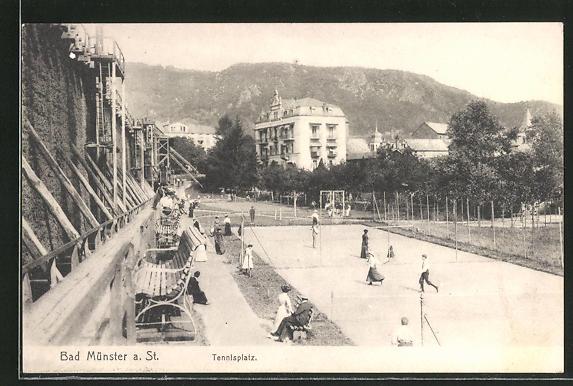 AK Bad Münster, Partie am Tennis-Platz