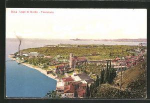 AK Toscolano, Blick auf den Ort am Gardasee