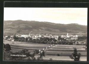 AK Pinkafeld, Blick über Felder auf die Ortschaft
