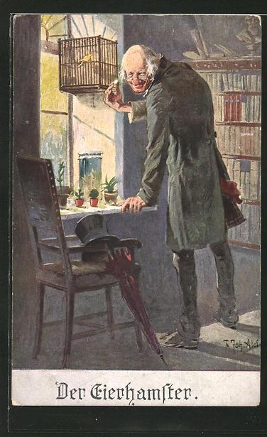 Künstler-AK Adolf (Jodolfi): Der Eierhamster