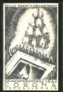 AK St. Gallen, Weihnachtskommers 1920, Corona Sangallensis