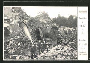 AK Geneve, Explosion à l'Usine à gaz 1909