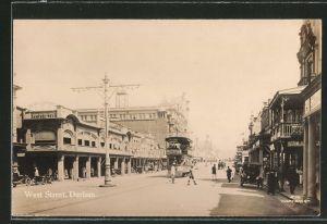 AK Durban, West Street, Strassenbahn