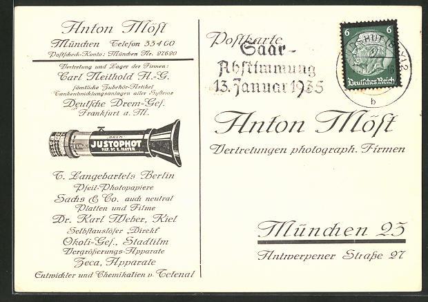 AK München-Schwabing, Anton Möst, Vertretungen photograph. Firmen