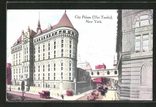 AK New York, NY, City Prison, The Tombs, Gefängnis