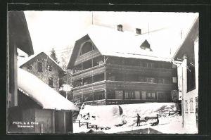 AK Pichl a. Enns, Ortsansicht im Winter