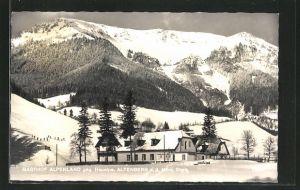 AK Altenberg, Gasthof Alpenland gegen Heualpe