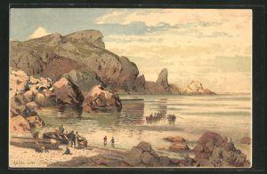 Künstler-AK Themistokles von Eckenbrecher: Torquay, Anstis Cove