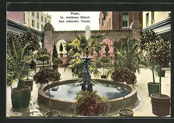 AK San Antonio, TX, St. Antony Hotel, Patio
