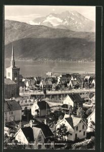 AK Narvik, Ortsansicht aus der Vogelschau
