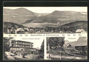 AK Steinseiffen, Totalansicht, Kaiser-Friedrich-Baude, Ortspartie