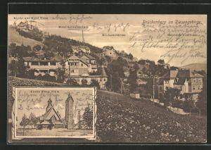 AK Brückenberg, Kirche Wang, Hotel Wang, Milchschlösschen