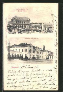 AK Szolnok, Steiner Jakab Fiai, Pályaudvar, Bahnhof