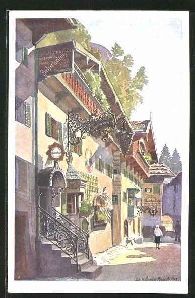 Künstler-AK Edo v. Handel-Mazzetti: Kufstein, Römerhofgasse