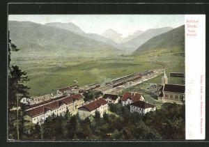 AK Selztal /Steiermark, Totalansicht mit Bahnhof