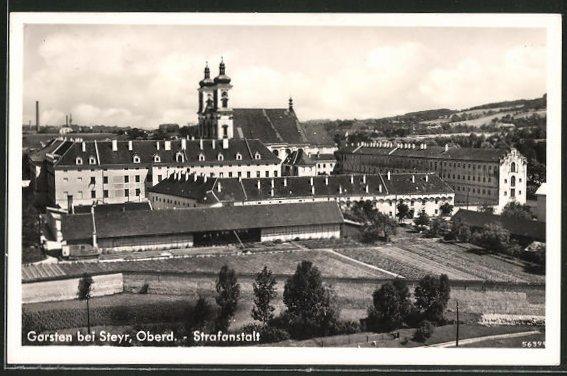 AK Garsten b. Steyr, Blick zur Strafanstalt
