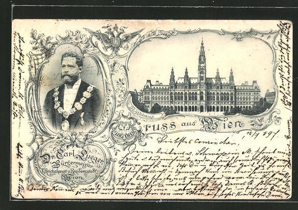 AK Wien, Bürgermeister Carl Lueger, Rathaus