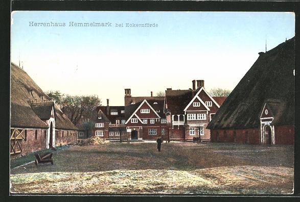 AK Eckernförde, Herrenhaus Hemmelmark mit Hof