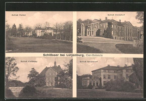AK Lütjenburg, Schloss Panker, Schloss Helmstorf, Schloss Kletkamp, Schloss Neverstorf