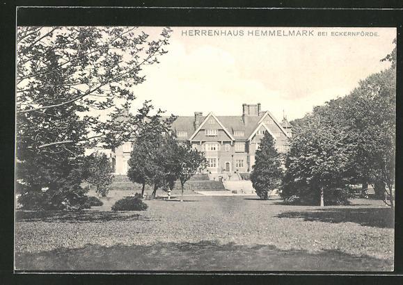 AK Eckernförde, Herrenhaus Hemmelmark mit Parkanlage