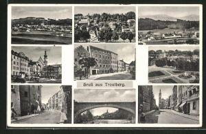 AK Trostberg, verschiedene Orts- und Strassenansichten