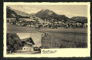 AK Hundham / Leitzachtal, Totalansicht, Gasthaus zum alten Wirt