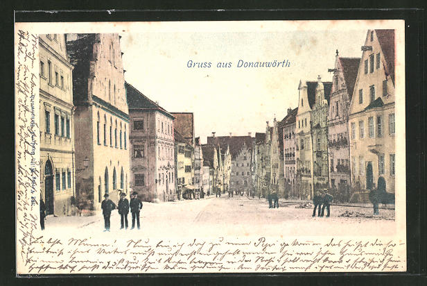 AK Donauwörth, Blick in die Reichsstrasse