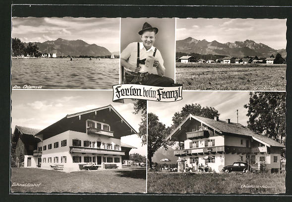 AK Feldwies a. Chiemsee, Hotel-Pension Chiemseeklause, Hotel-Pension Schneiderhof