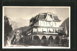 AK Stans, Ansicht vom Hotel-Restaurant Adler