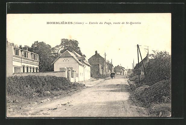 AK Homblières, Entrée du Pays, Route de St-Quentin