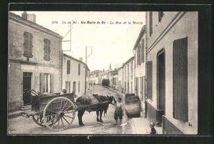 AK Ste-Marie de Ré / Ile de Ré, La Rue de la Mairie, Strassenpartie