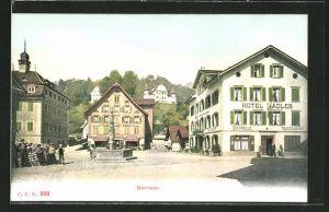 AK Sarnen, Ansicht vom Hotel-Restaurant Adler