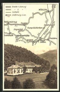 AK Baden, Josef Dietmann's Hotel Krainerhütte