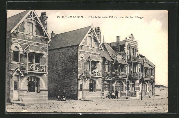 AK Fort-Mahon, Chalets sur l'Avenue de la Plage