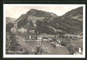 AK Stansstad, Ortsansicht mit Bürgenstock