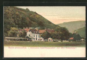 AK Baden-Helenenthal, J. Dietmann's Hotel-Restaurant
