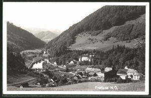 AK Freiland, Ortsansicht aus der Vogelschau