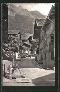 AK Brienz, Strassenpartie im Dorf