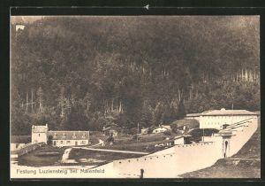 AK Maienfeld, Partie an der Festung Luziensteig