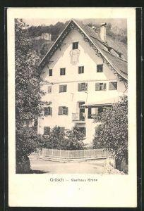 AK Grüsch, Am Gasthaus Krone