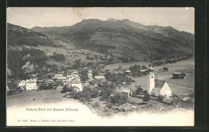 AK Fideris-Dorf, Panorama mit Saaser Calanda