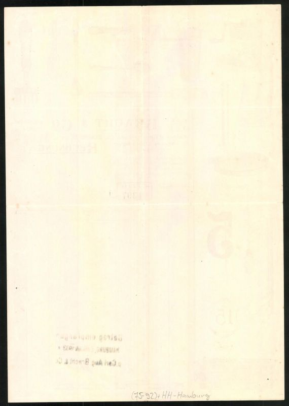 Rechnung Hamburg 1933 Haus Und Kuchengerate Carl Aug Bracht Co
