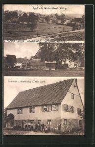 AK Schlechtbach / Wttbg., Bäckerei und Handlung von Karl Narth