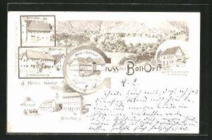 AK Boll, Post & Gasthaus, Rathaus, Apotheke, Schule