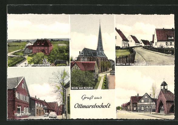 AK Ottmarsbocholt, St. Josefs-Krankenhaus, Neuestrasse, Kirche