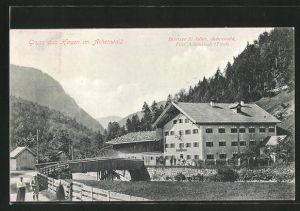 AK Hagen im Achenwald, Blick auf das Gasthaus von S. Adler