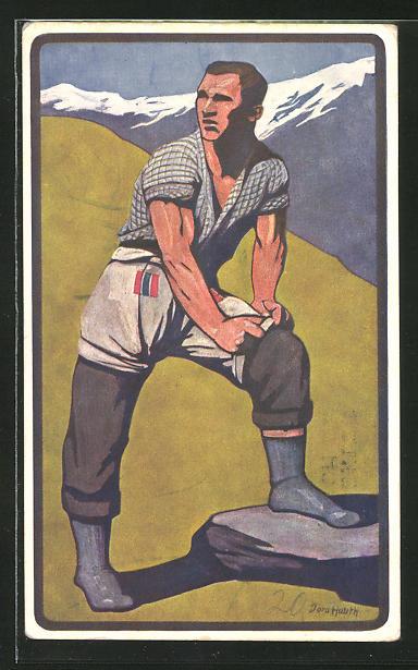 Künstler-AK Zürich, Eidg. Schwing- und Aelplerfest des Schwingklub Zürich 1911