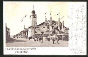 AK St. Gallen, Eidgen. Schützenfest 1904, Festhalle