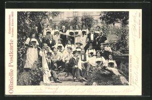 AK Zürich, Eidgenössisches Turnfest 1903, Schweizer in Tracht