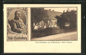 AK Pinne, Elternhaus des Paul von Hindenburg